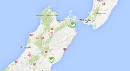 NZ Wineries on Google Maps